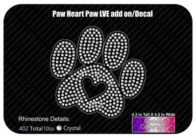 Paw Heart Stone Decal LVE Add-on