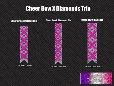 X Diamonds Trio Cheer Bow Vinyl