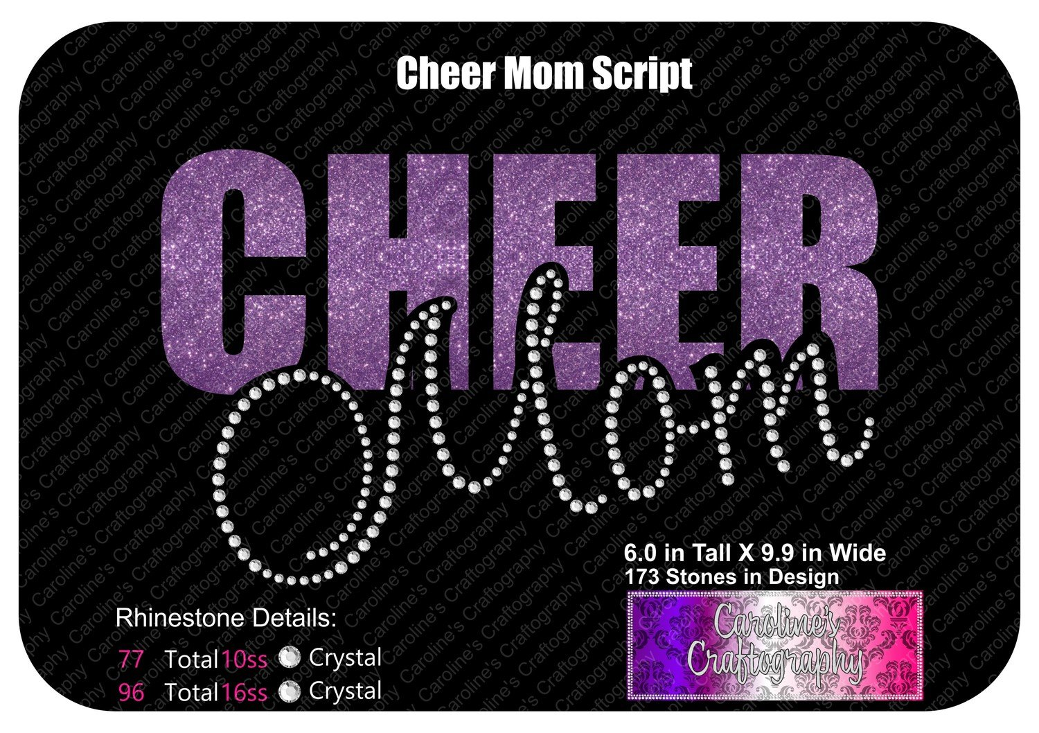 Cheer Mom Script Stone Vinyl (SV)