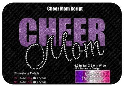 Cheer Mom Script Stone Vinyl (SV)