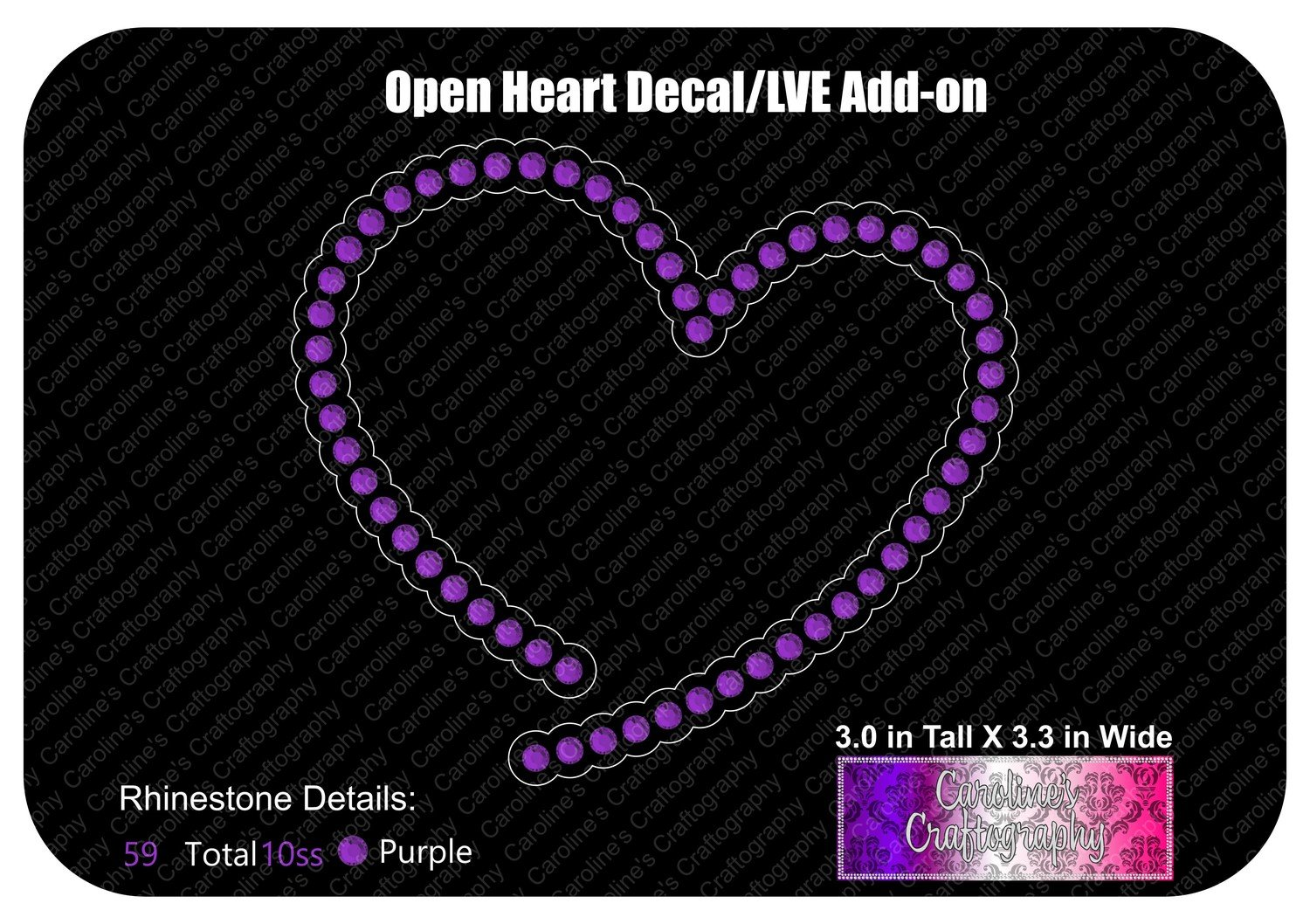 Open Heart Stone Decal