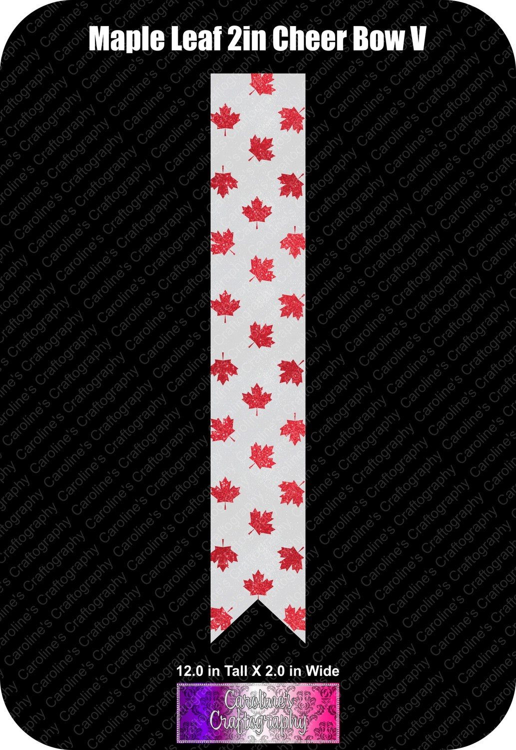 Maple Leaf 2in Cheer Bow Vinyl