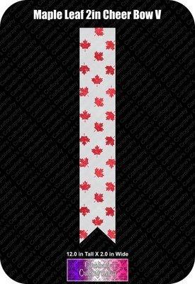 Maple Leaf 2in Cheer Bow Vinyl