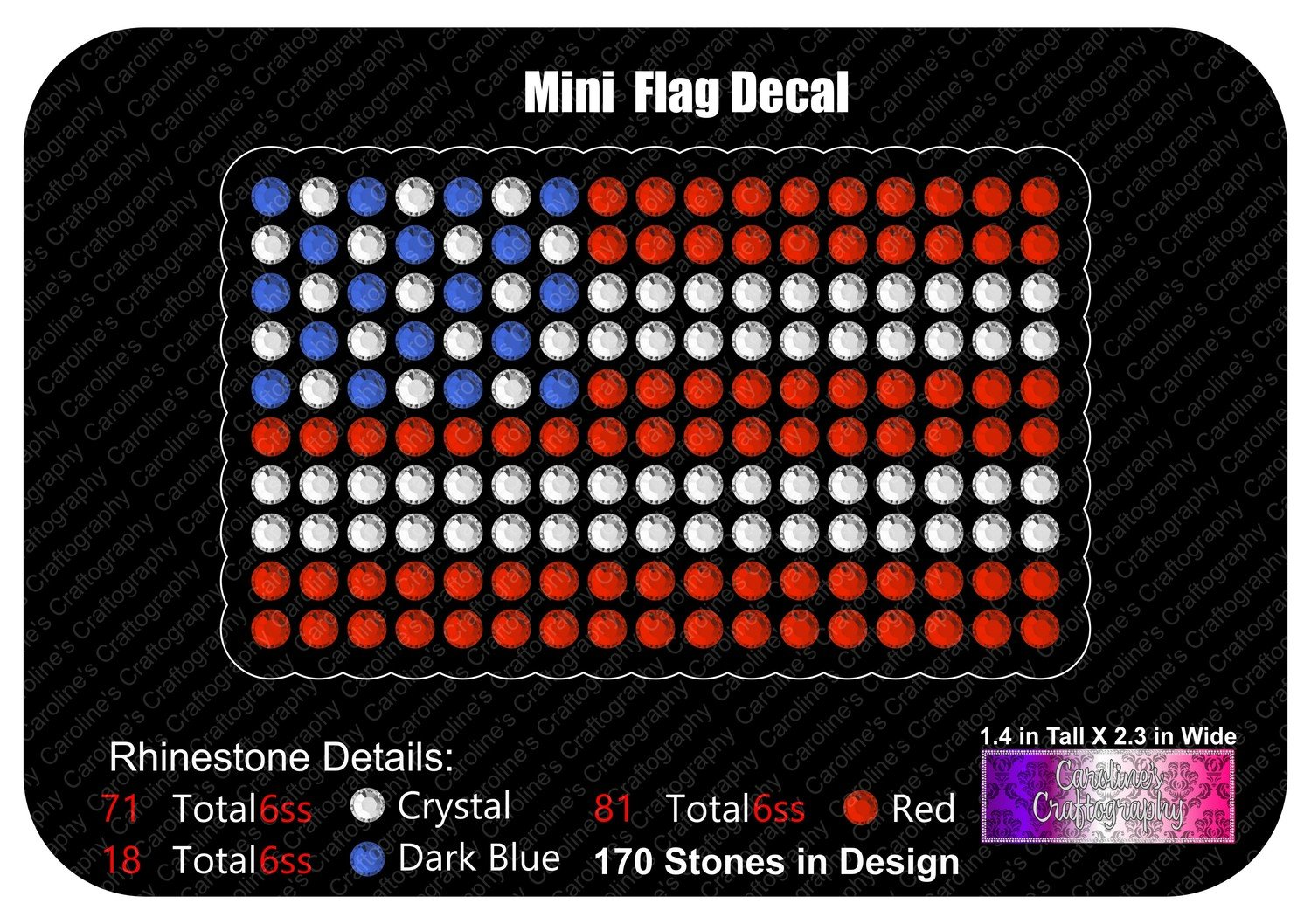 Mini Flag Decal