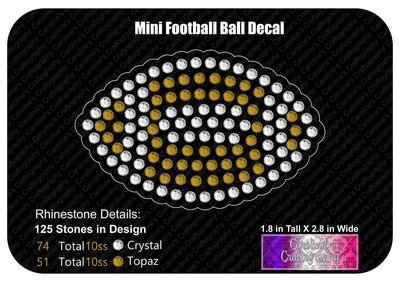 Mini Football Ball Decal