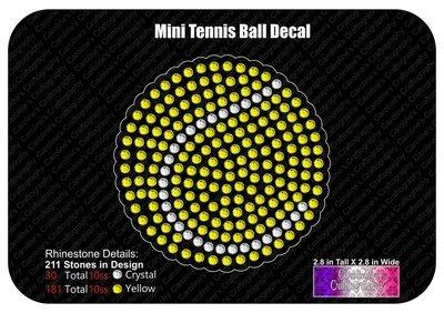 Mini Tennis Ball Decal