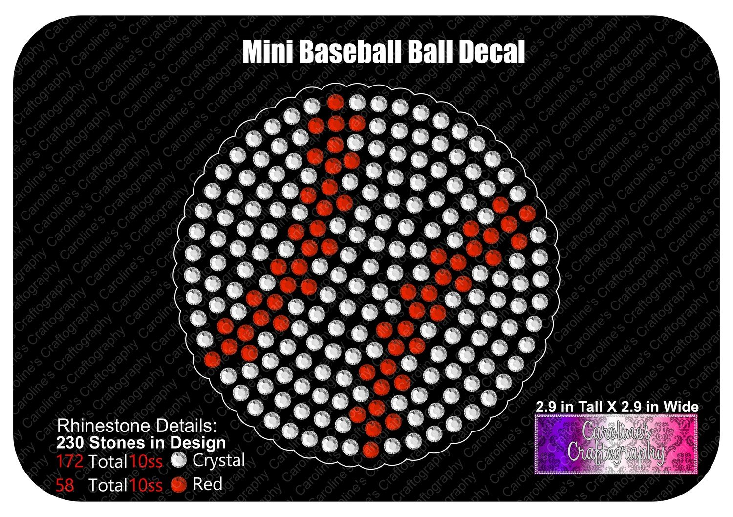 Mini Baseball Ball Decal