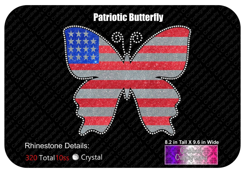Patriotic Butterfly Stone Vinyl