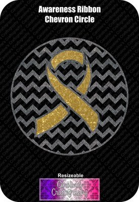 Awareness Chevron Circle Vinyl