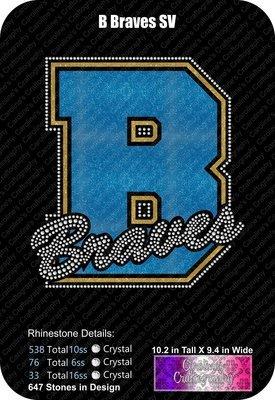 B Braves Stone Vinyl (SV)
