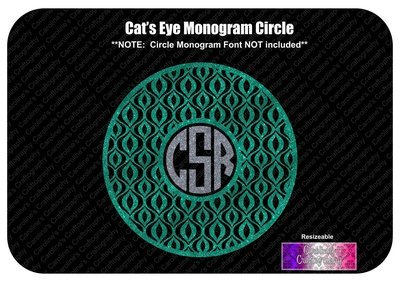 Cat's Eye Monogram Frame Vinyl