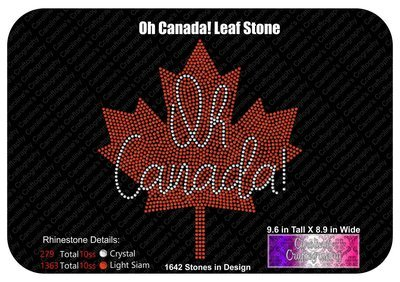 Oh Canada! Maple Leaf Stone