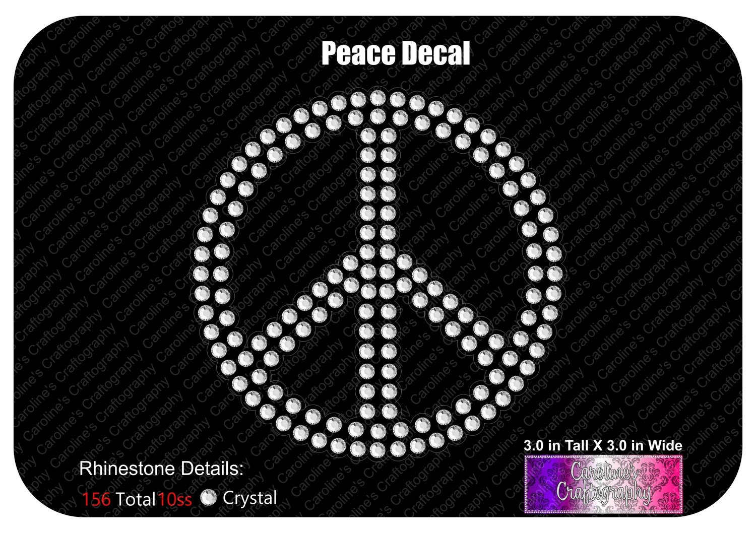 Peace Decal Stone