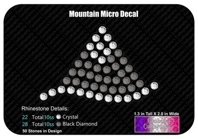 Mountain Micro Decal Stone