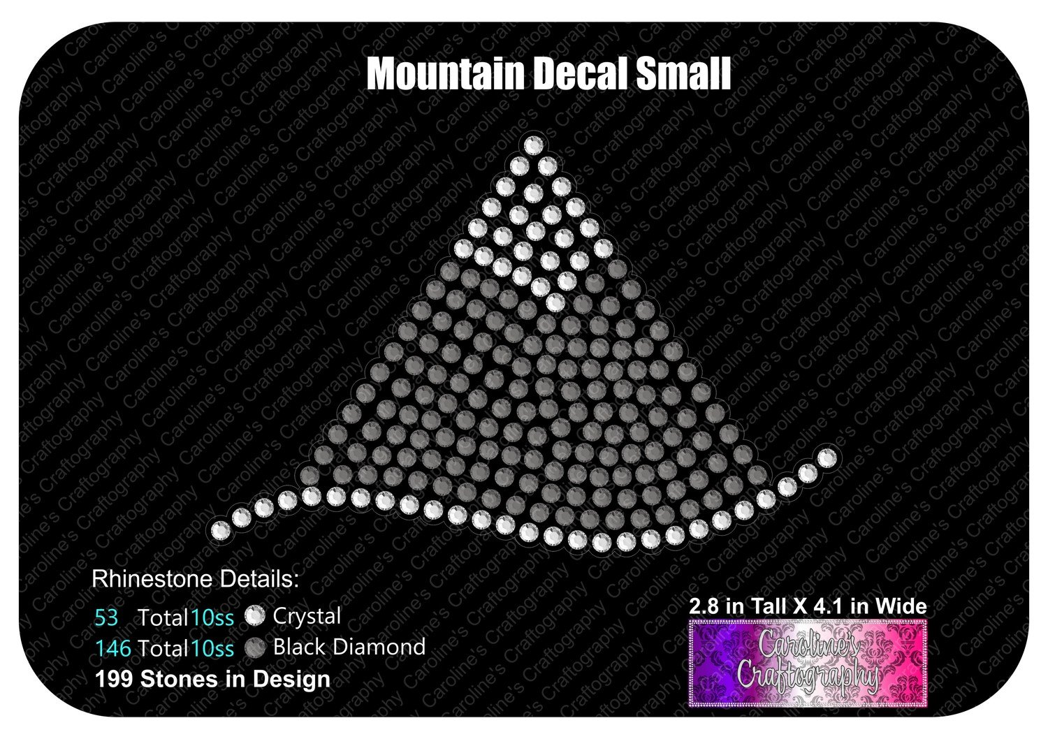 Mountain Decal Small Stone