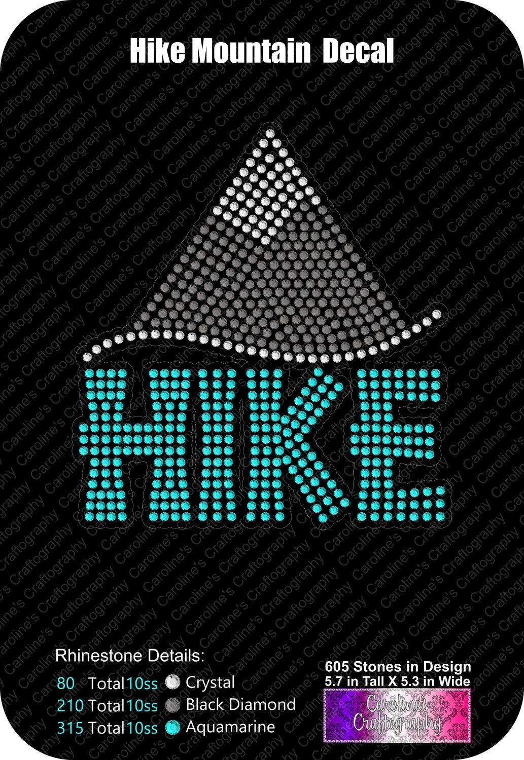 Mountain Hike Decal Stone