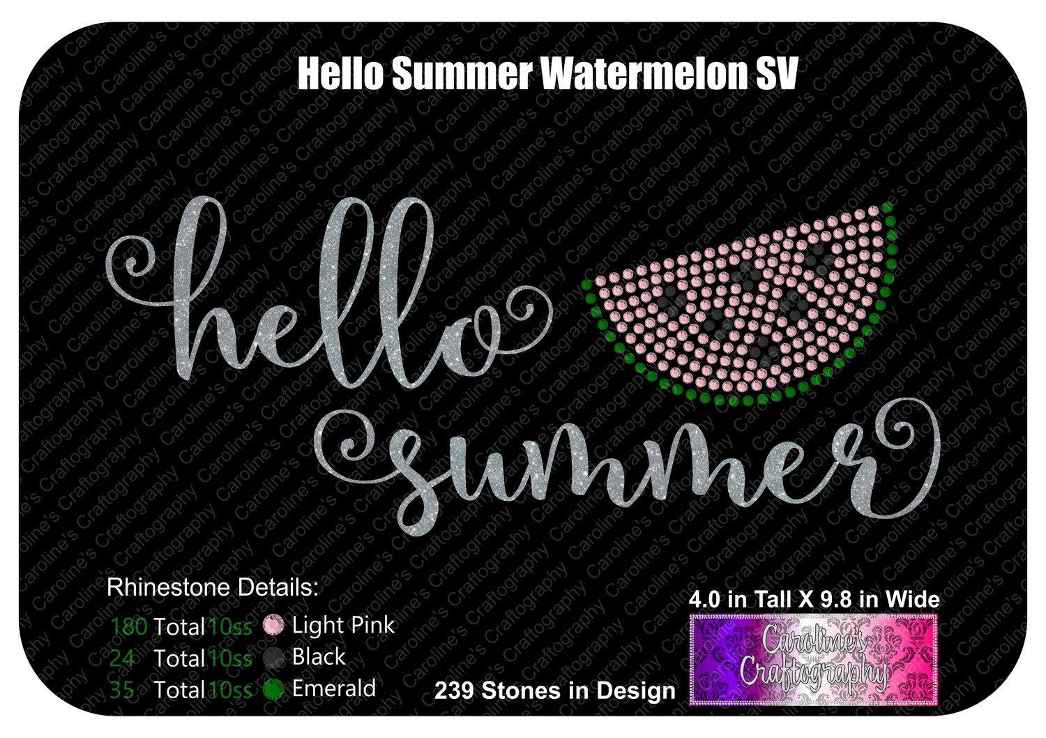 Hello Summer Watermelon Stone Vinyl