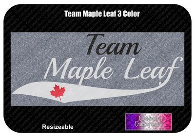Team Maple Leaf 3 Color Vinyl
