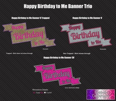 Happy Birthday to Me Banner Vinyl