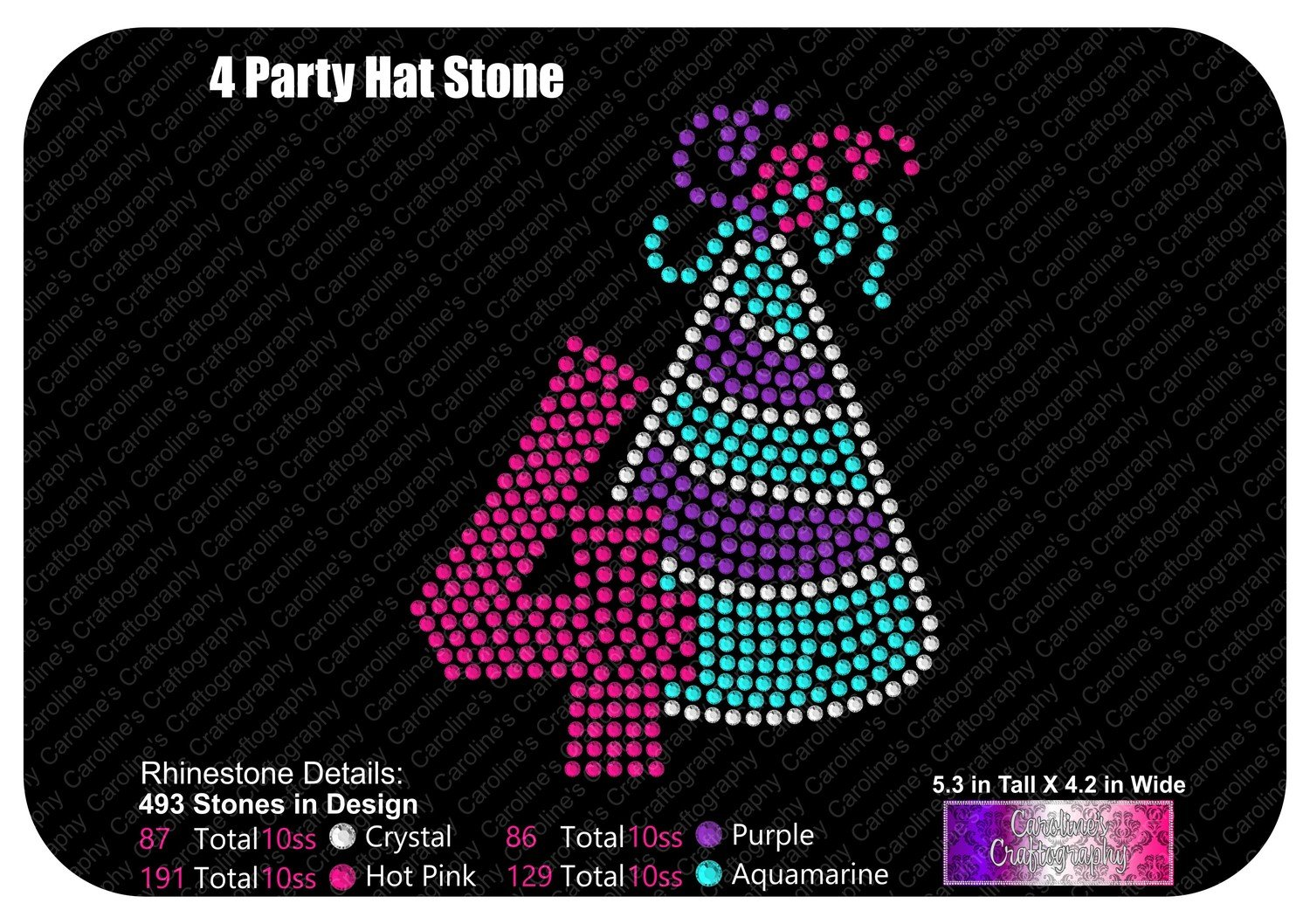 Party Hat Number 4 Stone