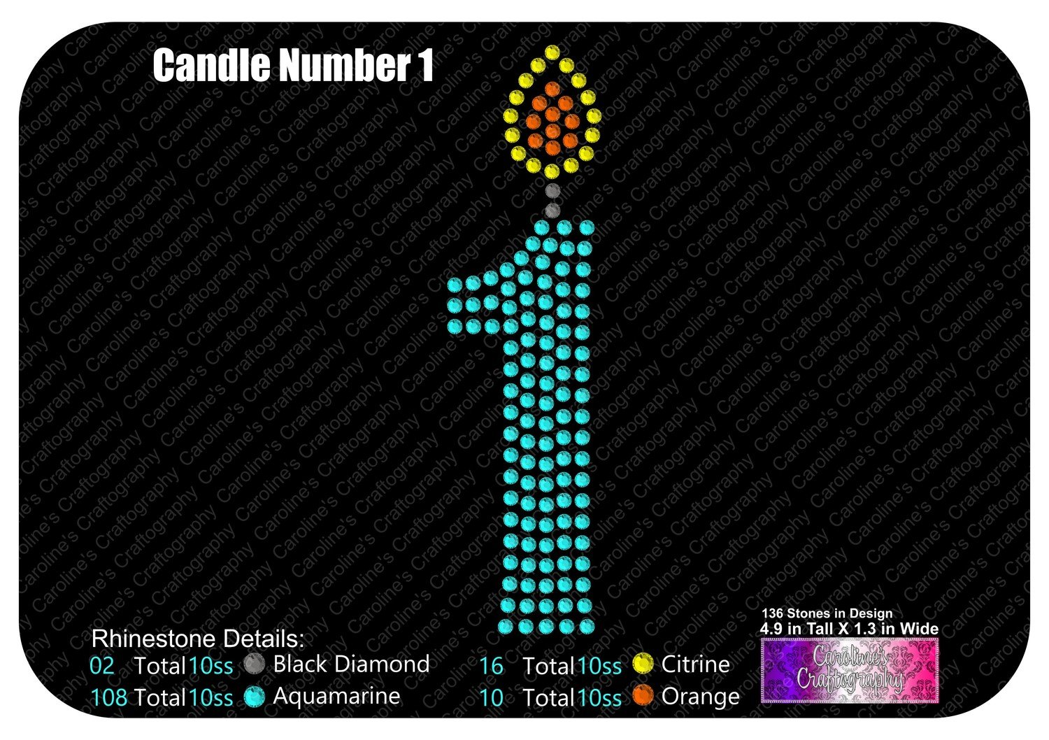 Candle Number 1 Stone