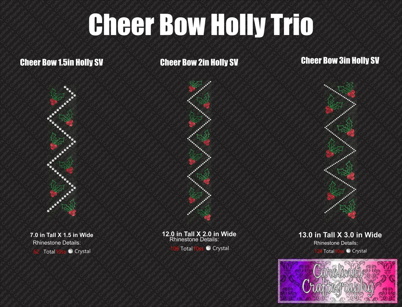 Cheer Bow Holly Stone Vinyl Trio