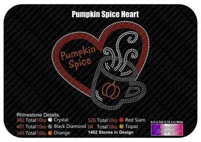 Pumpkin Spice Heart Stone
