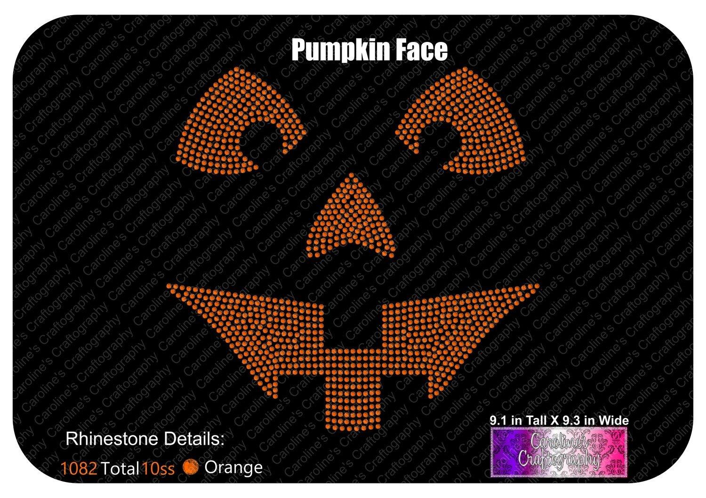 Pumpkin Face Stone