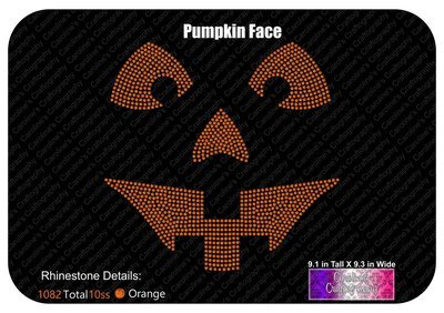 Pumpkin Face Stone
