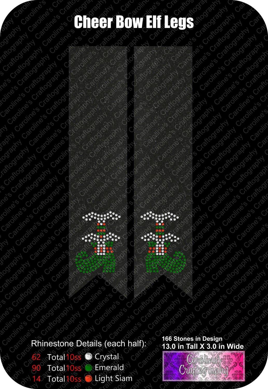Cheer Bow 3in Elf Legs Stone
