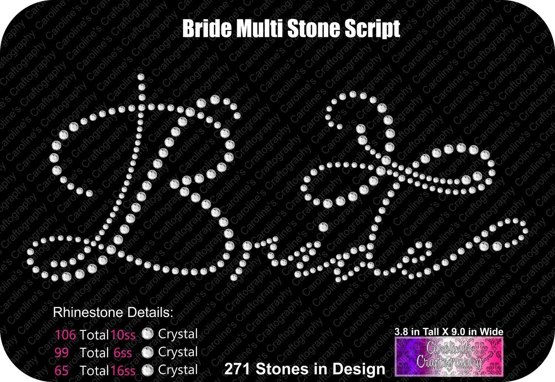 Bride Multi Stone Script