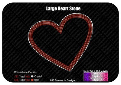Large Heart 2 Color Stone