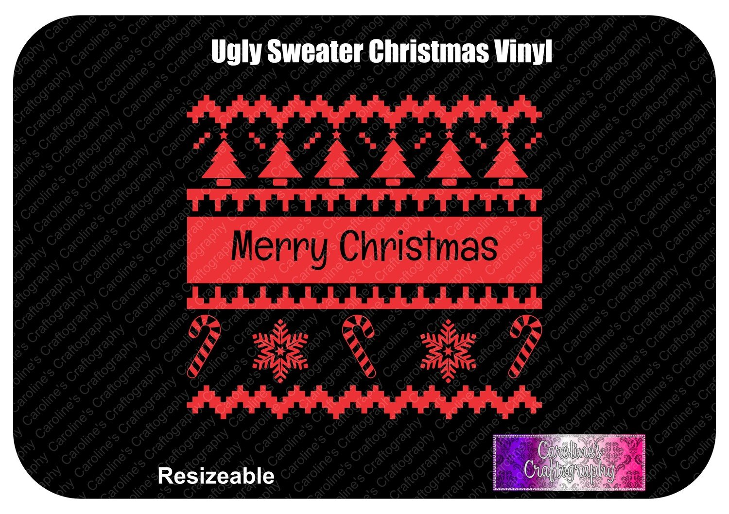 Merry Christmas Ugly Sweater Vinyl
