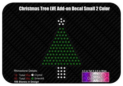 Christmas Tree LVE Add-on Decal Stone 2 Color
