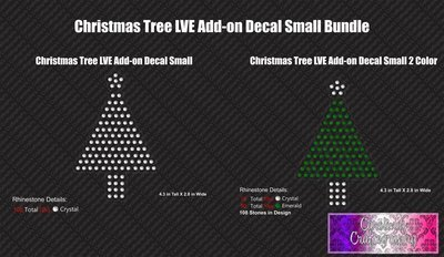 Christmas Tree LVE Add-on Decal Stone Budle