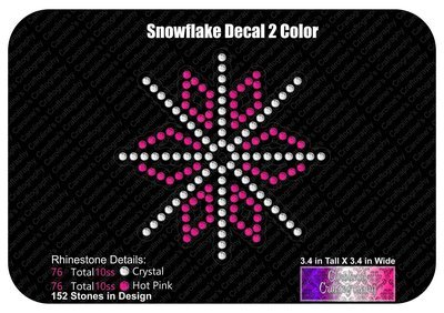 Snowflake 2 Color Decal Stone