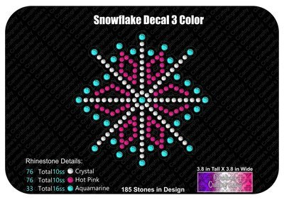 Snowflake 3 Color Decal Stone