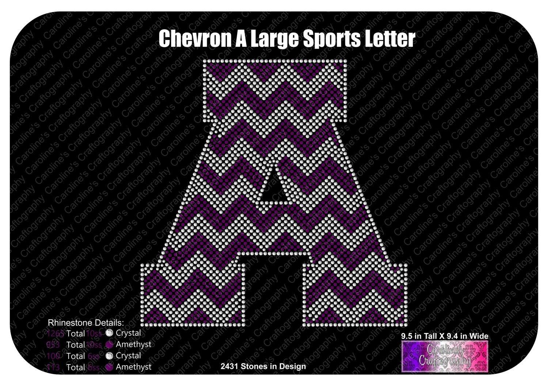 A Chevron Large Sports Letter
