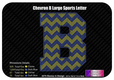 B Chevron Large Sports Letter