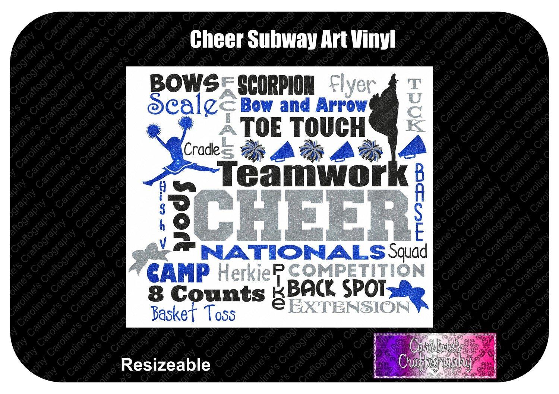 Cheer Subway Art Vinyl