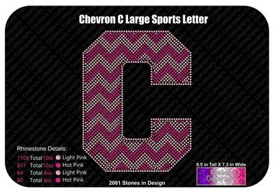 C Chevron Large Sports Letter