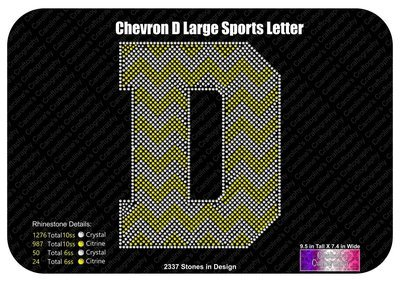 D Chevron Large Sports Letter