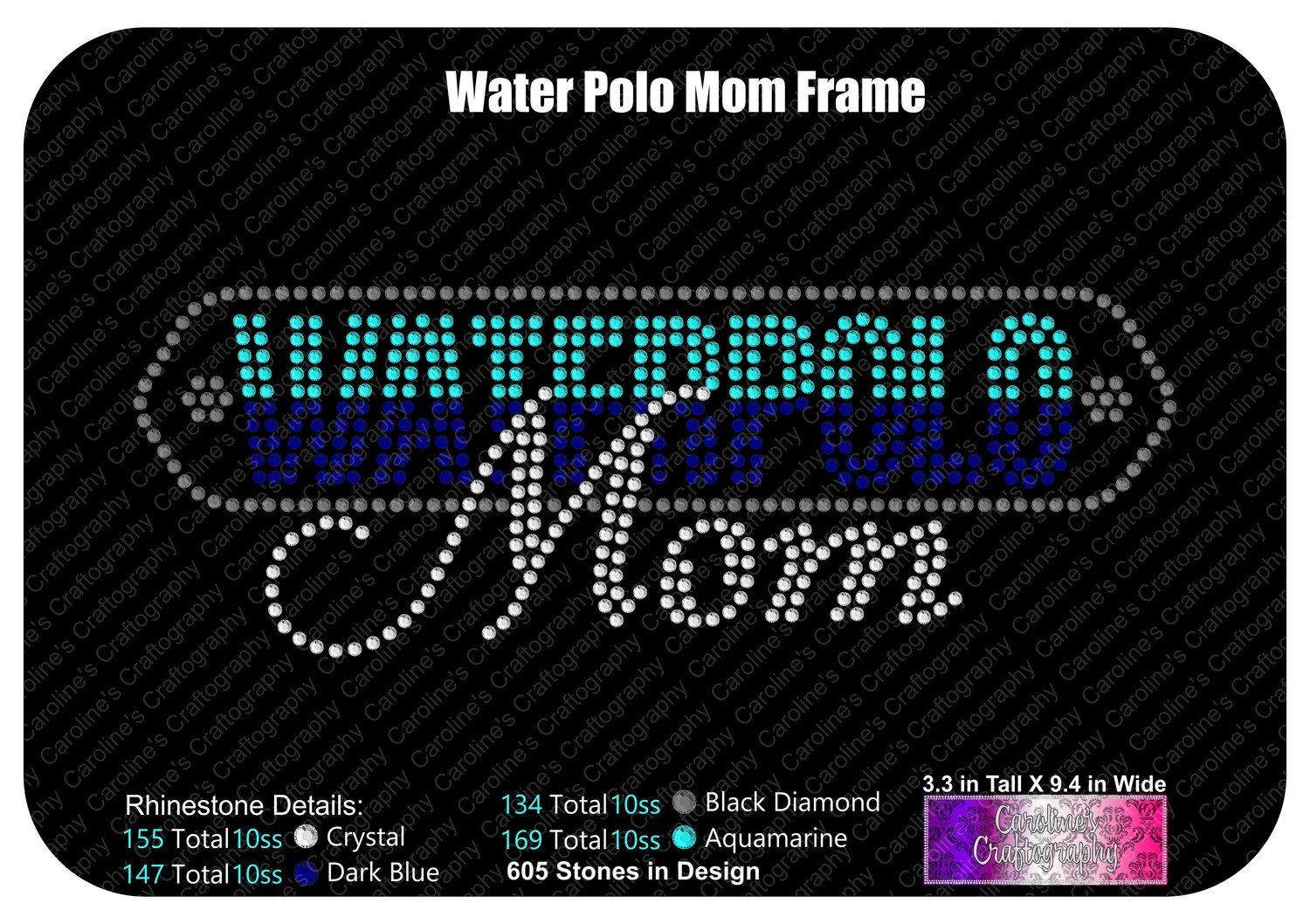 Waterpolo Mom Frame Stone
