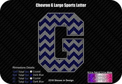 G Chevron Large Sports Letter