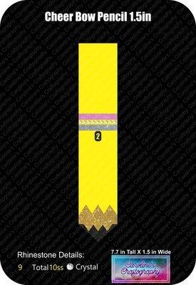 Cheer Bow Pencil 1.5in Stone Vinyl