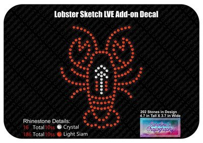 Lobster Sketch LVE Add-on Decal Stone
