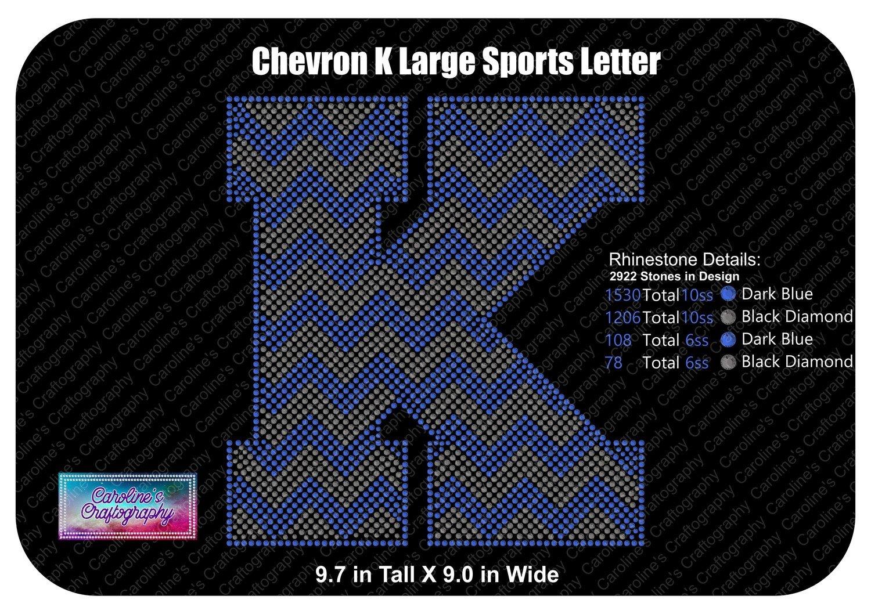 K Chevron Large Sports Letter