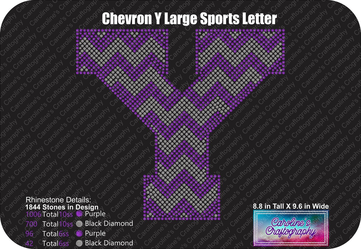 Y Chevron Large Sports Letter
