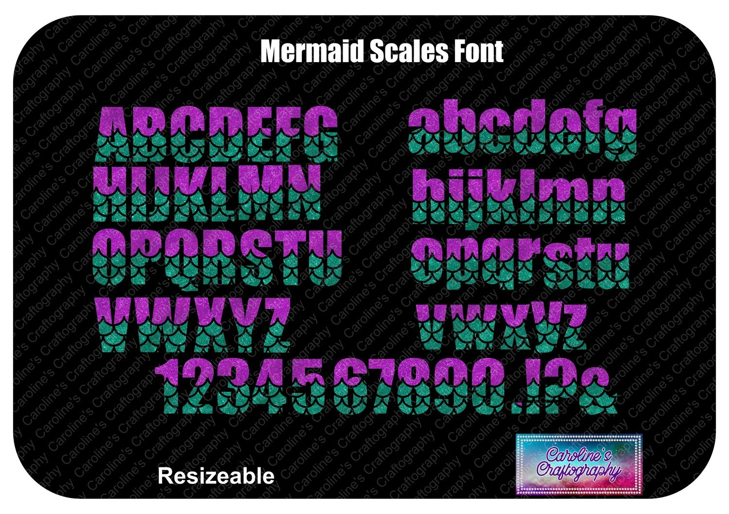 Mermaid Scales Font Vinyl