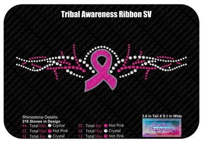 Tribal Awareness Ribbon  Stone Vinyl